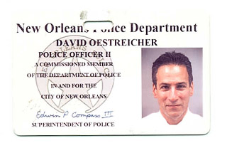 oestreicher nopd id photo. david oestreicher new orleans lawyer and nope reserve officer