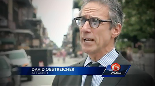 david oestreicher photo, new orleans lawyer on wdsu tv